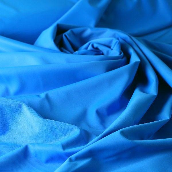 Badestoff glatt glänzend in blau