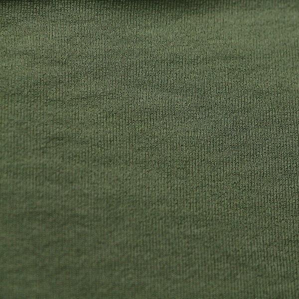 Badestoff matt kettgewirkt in olivgrün