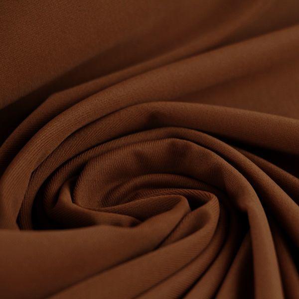 Microfaser Jersey glatt glänzend in braun