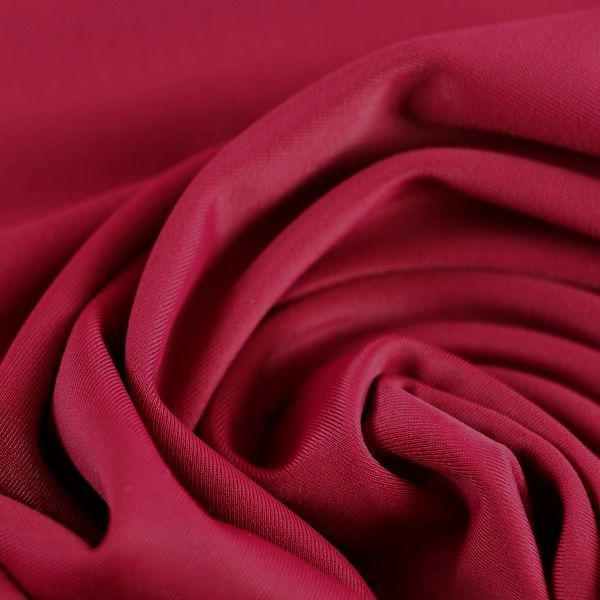 Microfaser Jersey glatt glänzend in weinrot