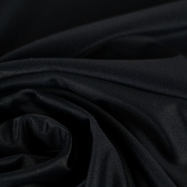 Microfaser Jersey glatt glänzend in schwarz