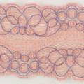 Spitzenband elastisch in apricot violett