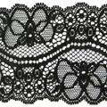 Spitzenband elastisch in schwarz