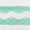 Spitzenband elastisch in seegrün zitrone