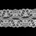 Spitzenband elastisch in weiss