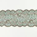 Spitzenband elastisch in kieselgrau zartgrün
