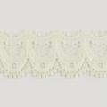 Spitzenband schmal elastisch in creme