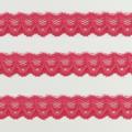 Spitzenband schmal elastisch in himbeer