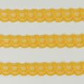 Spitzenband schmal elastisch in dottergelb