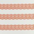 Spitzenband schmal elastisch in apricot