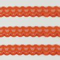 Spitzenband schmal elastisch in rotorange