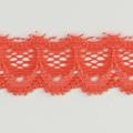 Spitzenband schmal elastisch in koralle