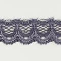 Spitzenband schmal elastisch in graulila