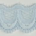 Spitzenband schmal elastisch in hellblau