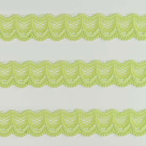 Spitzenband schmal elastisch in lindgrün
