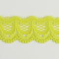 Spitzenband schmal elastisch in gelbgrün