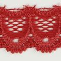 Spitzenband schmal elastisch in erdbeer rot