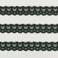 Spitzenband schmal elastisch in tannengrün