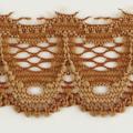 Spitzenband schmal elastisch in karamell hell