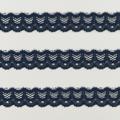 Spitzenband schmal elastisch in taubenblau