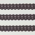 Spitzenband schmal elastisch in taupe