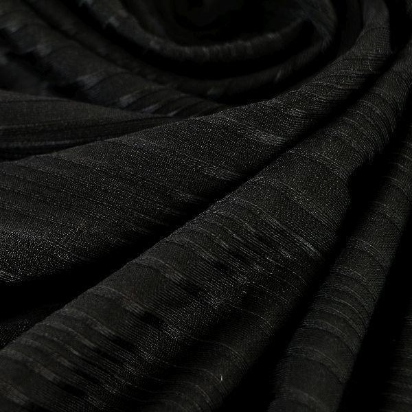 Microfaser Jersey sehr fein glänzend in schwarz gestreift