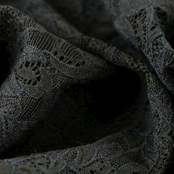 Spitzenstoff Wirkspitze schwarz floral