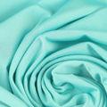 Microfaser Jersey sehr fein glänzend in türkis hell