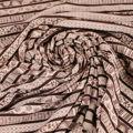 Microfaser glatt in rose braun gemustert